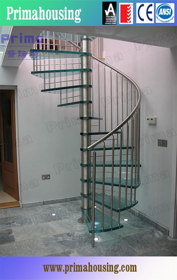 Decorative interior double stringer circular steel glass stair buy steel gl - Escalier peu encombrant ...