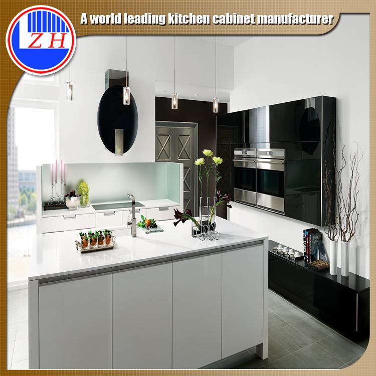 2016 Best Selling White Luxry Quartz Top Kitchen Cabinet