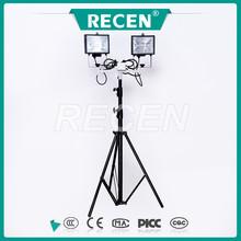 2 * 500 w ajustável rotatable iluminação portátil lâmpada de tungstênio de iodo luz de trabalho móvel torre