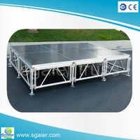 China supplier alibaba store sells plywood mini indoor stage for wedding stage decoration