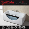 2014 new design Whirlpool massage bathtub with glass Q308N