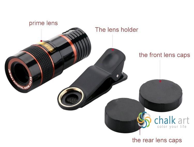2017 most popular telescope lens 8x zoom optical telescope camera