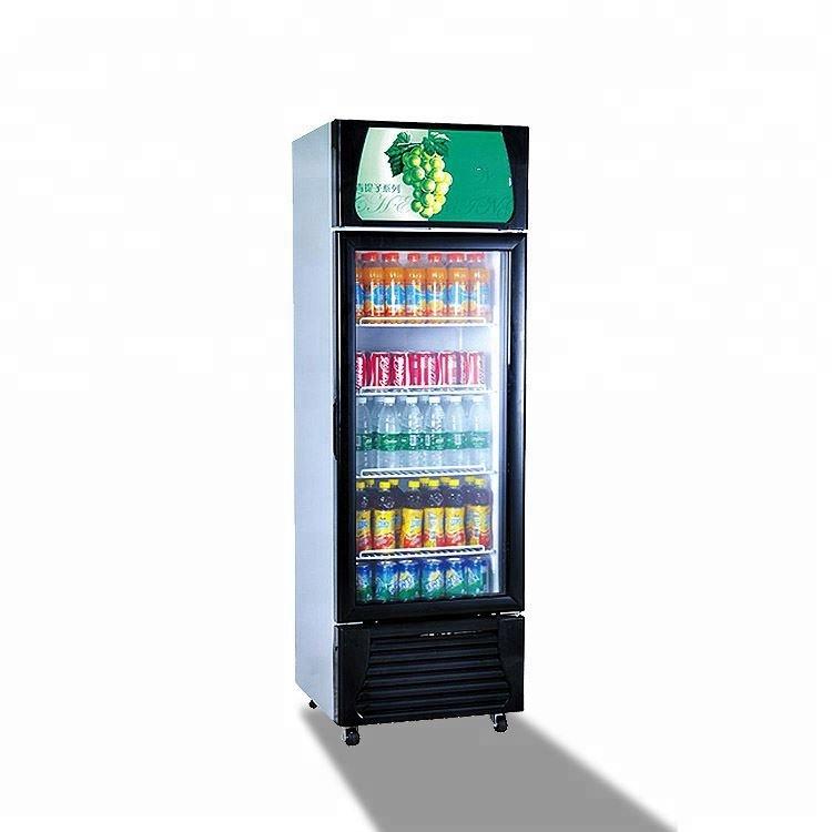 広州スーパーマーケット直立ディスプレイ冷蔵庫/飲料冷蔵ショーケースキャビネット/ソフトドリンクディスプレイクーラー