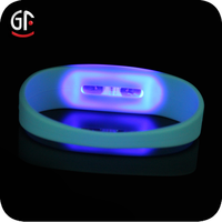New Products 2015 New Business Ideas Led Flashing Colorful Cheap Custom Light Up Silicone Bracelet
