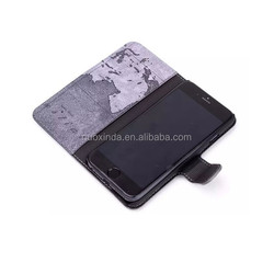 wholesale world map mobile phone leather PU cover for i- phone 5