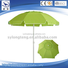 Cheap pure green beach exterior paraguas, promoción parasol, garden parasol