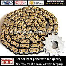 solid bush motorcycle roller chain kit ,roller motorcycle chain kit, autaomatic motorcycle transmission chain for Bajaj