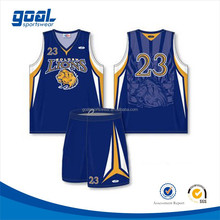 100% polyester fabric Latest design 5xl wholesale team sublimation basketball wear uniform