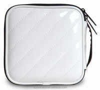 White BUBM 32 Capacity PU Leather Cover CD Case CD Box DVD Case CD-ROM Holder Car Disc Case