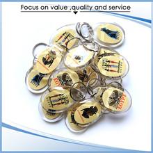 Many sizes and shapes customized plastic acrylic keychain,key chain