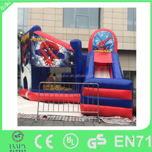 Hot commercial inflatable spiderman bouncer slide for sale