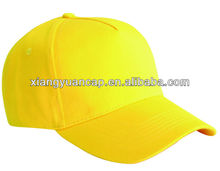 6 panel sports plain brushed 100% cotton cap with embroidery