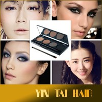 Eye Brows Professional 4 color eyebrow makeup powder eyeshadow palette double end brush