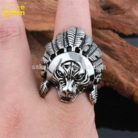 Cheap wholesale men 952 silver color stainless steel finger ring