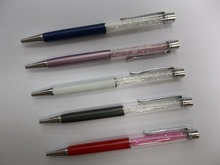 Pen Metal factory nice logo pen bling pen crystal pen