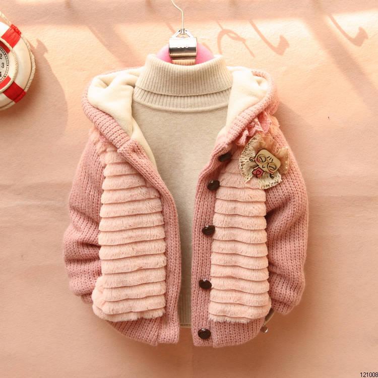 Вязанная куртка девочке
