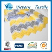 Cotton Crib Size Crochet Baby Chevron Blanket