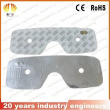 Ultrathin Aluminum foil heater for eye mask