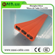Flexible PVC Flat/Round cctv cable for elevator Mexico Hotselling