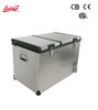 80L Solar fridge Car Freezer dual zone Portable camping freezer mobile RV freezer