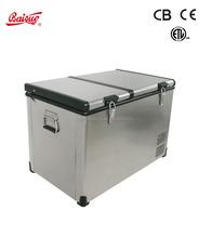 80L Solar fridge Car Freezer dual zone Portable camping freezer mobile RV freezer