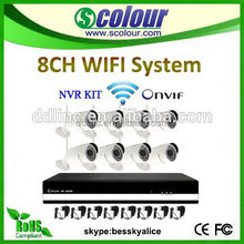 8 channel nvr 8ch onvif wireless ip camera P2p Bullet Camera