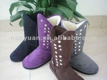 2012 new style rivet fish-like mouth snow boot