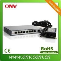 9 port Ethernet POE Switch for ip camera with one uplink port(I15.4w)