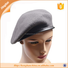 Traditional Black Wool Tami Beret Cap Hat