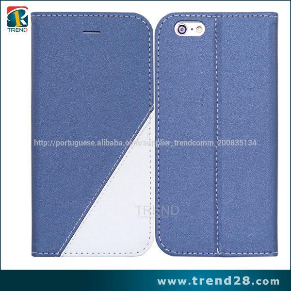 china fornecedor <span class=keywords><strong>0</strong></span>,3 milímetros TPU + pu capa de couro da aleta para o iPhone 6