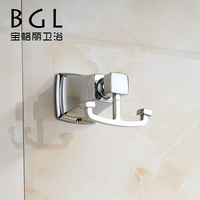 New design America-style Zinc alloy bathroom accessories Wall mounted Chromed Double hooks-12135