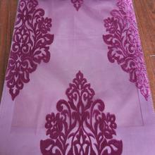 Cheap curtain design Arabic bedroom velvet sheer curtain fabric for home