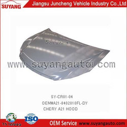 CAR engine hood replaced for Chinese car CHERY A5 hot selling aftermarket car spare parts