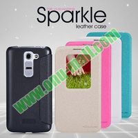 New Fashion Nillkin Sparkle Series Caller ID Window Flip Leather Case for LG G2 Mini D620 D618