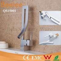 China Modern Kitchen Designs Commercial Brass Single Handle Deck Mounted Chrome Water Tap Kitchen Sink Kitchen Tap