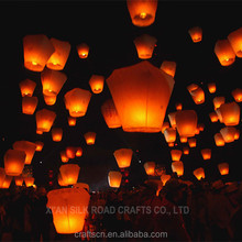 Mix color custom size sky lantern no fire