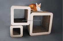 3 in 1 Square shape corrugated paper cat scratcher comportable cat pets sofa animals family furniture