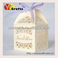6*6cm wholesale wedding decorations! laser cut excellent wedding favor boxes