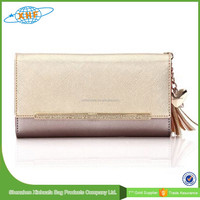 2015 China Wholesale New Design Young Girl Leather Lady Wallet