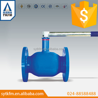 2015 TKFM water gas oil pipeline use 2 inch flange type stainless steel 316 ball valve
