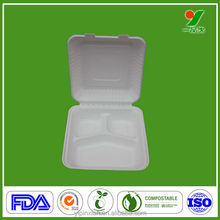 disposable paper tableware eco-friendly pulp food container