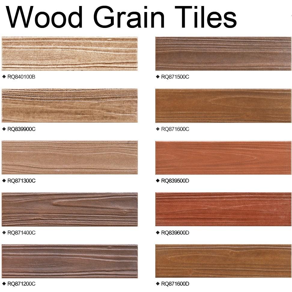Modern Design Non Slip Wood Grain Look Porcelain Full Body