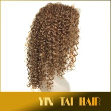 2015 Hot Heat Resistant Synthetic Kanekalon Cosplay Wig Natural Blonde Long Wavy Curly Synthetic Hair Wigs Sexy for Asian Women