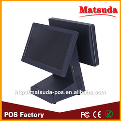 WIFI electroic pos machine / dual touch screen pos / window pos with doule display