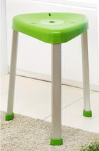 Adorable Looking Green Triangle Bathroom Plastic Stool