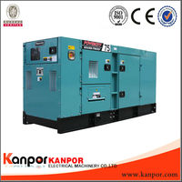Original generators!KANPOR 80kw/100kva with cummins electric generator factory picture with CE,BV,ISO9001