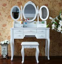 Wooden Dresser/ K/D Dressing Table with Stool / Germany Style Bedroom Dresser