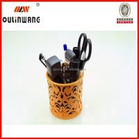 Hot sell metal mesh pen holder, pencil vase,office stationery set