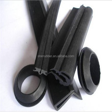 Anti dust extruded hard rubber sealing strip