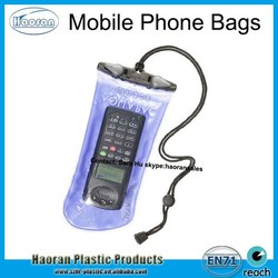 Hot sale portable mobile phone PVC Waterproof Bag with lanyard